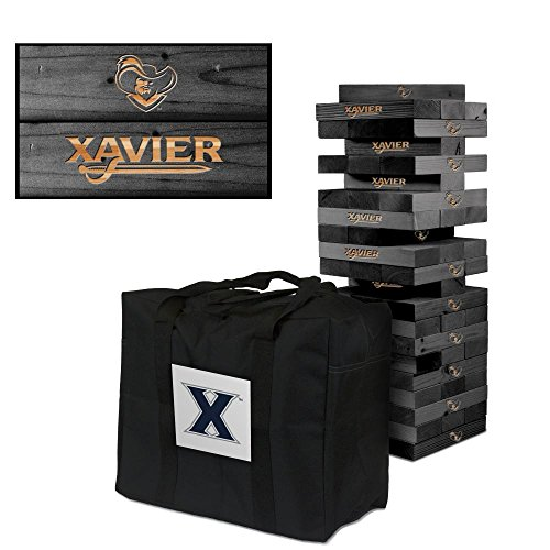 NCAA Xavier Musketeers 1018290Xavier University Musketeers Wooden Tumble Tower Game, Multicolor, One Size by Victory Tailgate