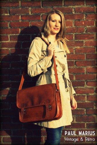 La Borsa a tracolla (L), borsa pelle vintage, Testa di Moro la borsa a mano, borsa a tracolla, (A4),