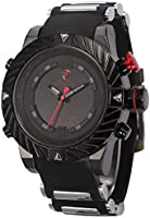 Shark Mens Digital Date Day Alarm LED Black Rubber Waterproof Sport Quartz Wrist Watch SH166