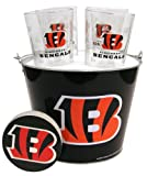 Boelter Brands NFL Cincinnati Bengals Bucket and 4 Satin Etch Glass Gift Set Review