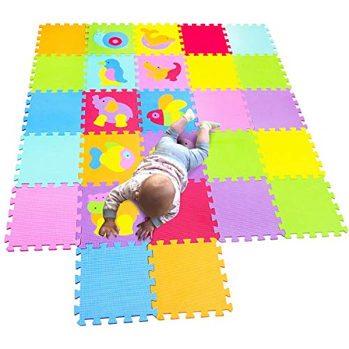 MQIAOHAM Children Puzzle mat Play mat Squares Play mat Tiles Baby mats for Floor Puzzle mat Soft Play mats Girl playmat Carpet Interlocking Foam Floor mats for Baby P014CS18G300927