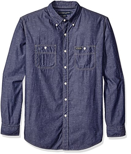 U.S. Polo Assn. Mens Classic Fit Poplin with Neps Button Down Sport Shirt