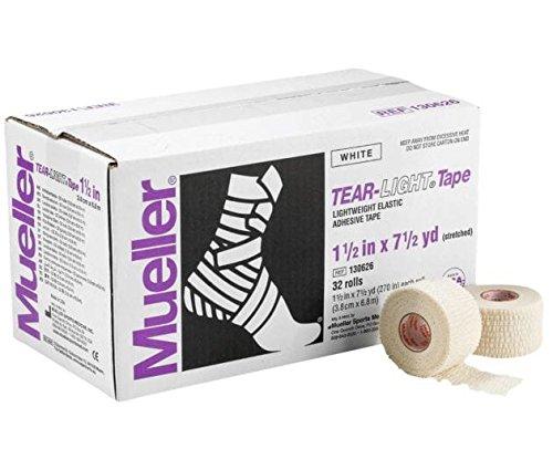 Mueller Tear-light Tape White 2 Inch X 7.5 Yard 24ct by Mueller
