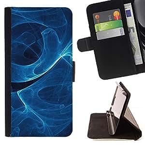 Momo Phone Case / Flip Funda de Cuero Case Cover - Remolino de humo azul;;;;;;;; - Samsung Galaxy Core Prime