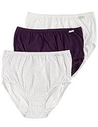 Jockey Women's Underwear Plus Size Elance Brief - 3 Pack, Floral Medallion, 9