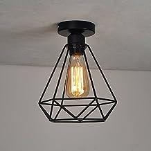 GZQ Vintage Industrial Mini Metal Flush Mount Ceiling Light Fixture Pendant Light for Living Room/Bedroom/Dining Room/Kitchen/Bathroom