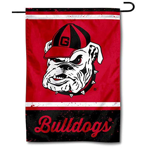 (WinCraft UGA Bulldogs Throwback Vintage Retro Garden Flag)
