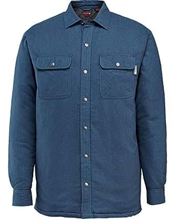 Wolverine Men's Forester Flannel Shirt Jacket, Blue, Medium