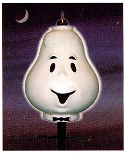 The Christmas Boutique Friendly Ghost Outdoor Yard Decor Lamppost Cover Halloween Party Prop -