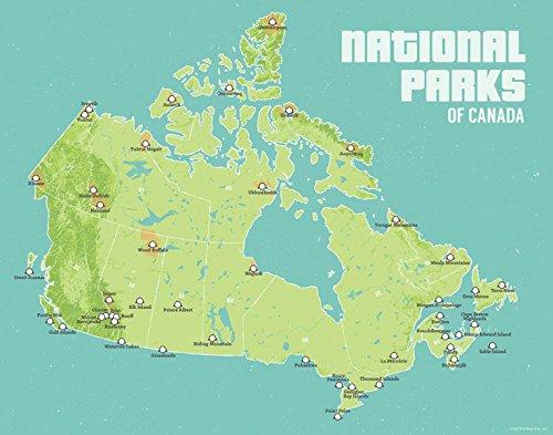 - Best Maps Ever Canada National Parks Map 11x14 Print (Green & Aqua)