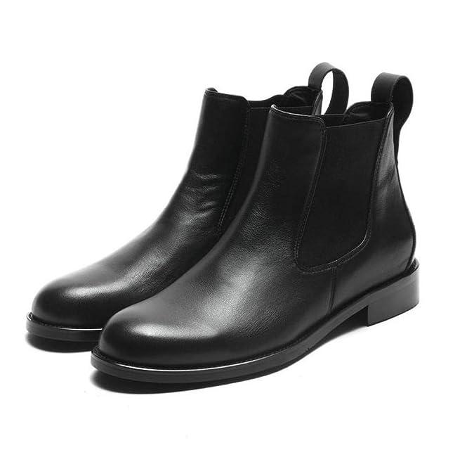 Amazon.com: Botas de cuero genuino para mujer, botas de ...