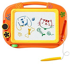 EEDAN Magnetic Drawing Board Games Toy Magna Doodle for Kids - Erasable Colorful Drawing Board Writing Sketching Pad for Kids Inspiration and Colors - Gift for Girls Boy Kids Children Travel Size