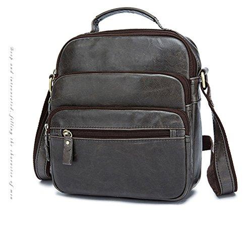 Simple Funktionell Herren Leder Schultertasche Messenger Bag Tasche Umhängetasche für Reise Alltag Outdoor Sports aIKRt5NN7o