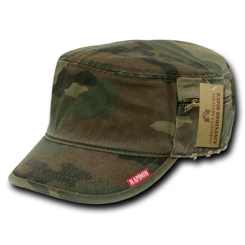 Rapiddominance French Round Bill Cap, Woodland, X-Large