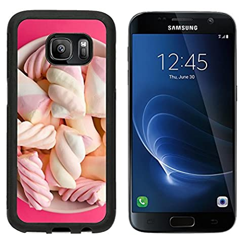MSD Premium Samsung Galaxy S7 Aluminum Backplate Bumper Snap Case IMAGE ID: 31505365 top view of sweet marshmallow in - Plump Sweet
