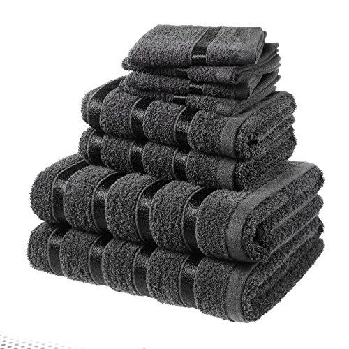 Sabar Laura Secrets 8Pc Towel Bale Set - Black