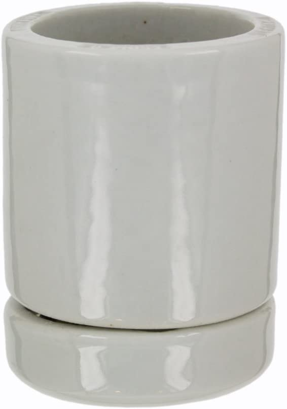 Leviton 8765 Mogul Base, Two-Piece, Keyless, Incandescent, Glazed Porcelain Lampholder, Mounting Screws, Single Circuit, White