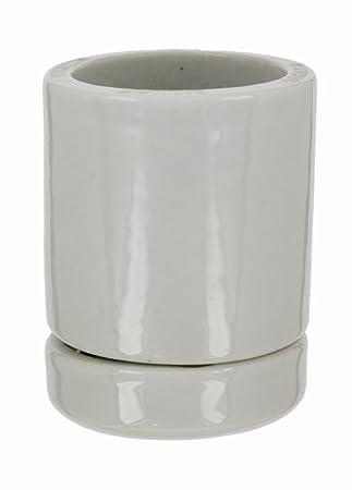 Leviton 8765 Mogul Base, Two Piece, Keyless, Incandescent, Glazed Porcelain  Lampholder