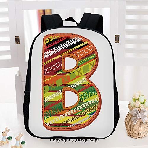 Kids School Backpack,Winter Season Inspired Typing Tool Art Design Digitally Made Multicolor Palette Decorative Nursery Room Decorations Classic,Plain Bookbag Travel Daypack,Multicolor