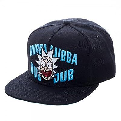 Rick & Morty Wubba Lubba Dub Dub Black Snapback Cap 10-Inch Hat by Rick & Morty