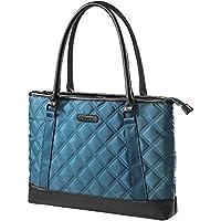 Laptop Bag, KEEPWE Womens Laptop Bag, 15-15.6 in Water Resistant Lightweight Nylon Laptop Tote Bag for Business Work Travel (Blue)