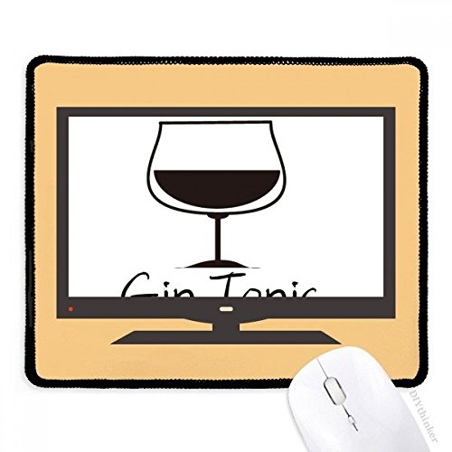 Price comparison product image Silhouette of Gin Tonic Cocktail Computer Mouse Pad Non-Slip Rubber Mousepad Game Office