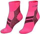 ZaTech Plantar Fasciitis Sock, Compression Socks. Heel, Ankle & Arch Support. (Pink/Black, Medium)