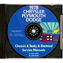 1978 PLYMOUTH REPAIR SHOP & SERVICE MANUAL & BODY MANUAL CD INCLUDES: Fury, Volare & Caravelle. 78