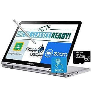 2021 Samsung Chromebook Plus V2 12.2 Inch FHD 1200P Touchscreen 2-in-1 Laptop, Intel Core m3-7Y30, 4GB RAM, 64GB eMMC, WiFi, Webcam, Chrome OS + NexiGo 32GB MicroSD Card Bundle, Pen Included