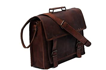 8859d394fd Image Unavailable. Image not available for. Colour  True Grit Leather  Michigan Leather 16 Inch Laptop Messenger Briefcase Bag