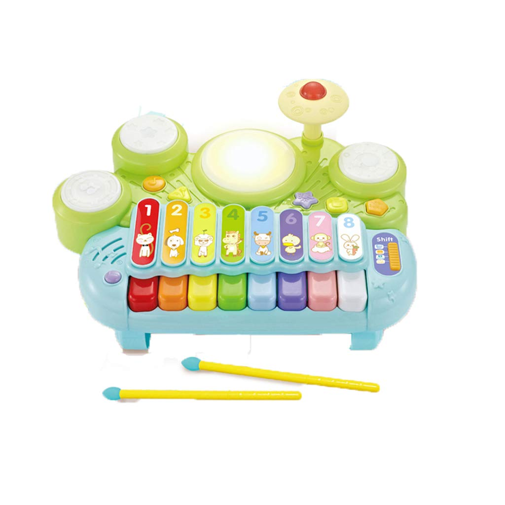 LIPENG-TOY Infant Children Music Toys Pat Drums 0-1-3 Years Old Baby Hand Drums Baby Early Education Toys (Color : Multi-Colored)
