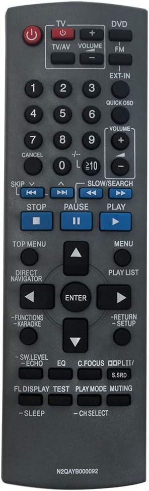Control remoto N2QAYB000092 para  DVD Home Theater Sound
