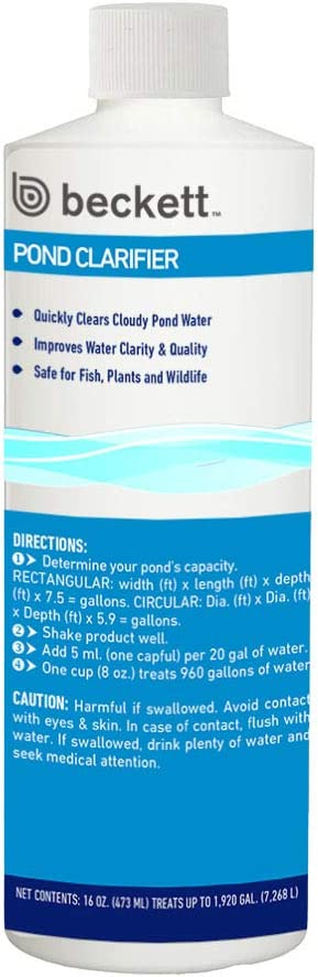 Beckett Corporation CPPC16 16-Ounce Clarifier Water Treatment for Ponds, Waterfalls, and Container Gardens