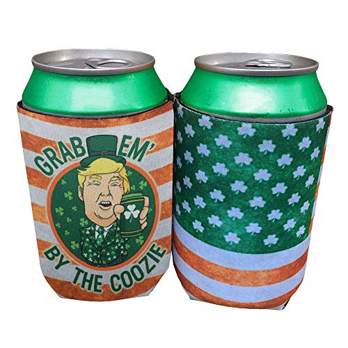 - Funny Trump Can Cooler For St. Patrick's Day Party Gift For Beer Lover St. Patty's Day Beer Accessory Coozie Cozie (Orange, 2)