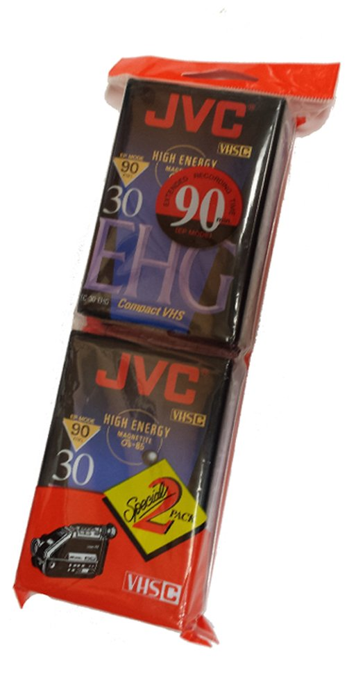 JVC Compact Video Cassette VHSc, 2 pack by JVC