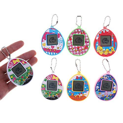 IEnkidu Kids Funny Multicolor Electronic Tamagotchi Virtual Pet Handheld Game Machine Toy