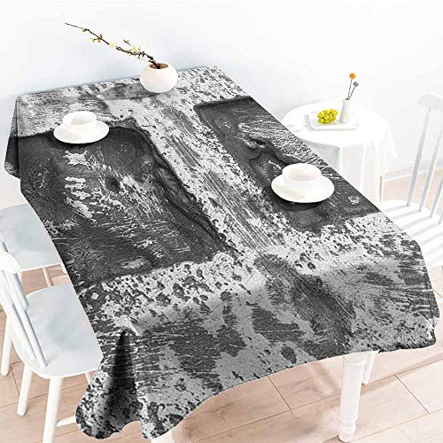 EwaskyOnline Anti-Fading Tablecloths,Letter H Victorian Stylized Capital H Font in Chrome Rock Tones Steel Look Retro Design,Party Decorations Table Cover Cloth,W60X90L, Black -