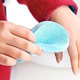 HANSGO 50 PCS Colorful Facial Cleansing Sponge, Wet