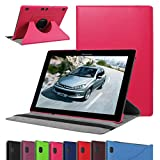 """Lenovo Tab 2 A10 Rotating Case,Mama Mouth 360 Degree Rotary Stand Cover For 10.1"""" Lenovo Tab 2 A10-70L / A10-70F Andriod Tablet,Rose Red"""
