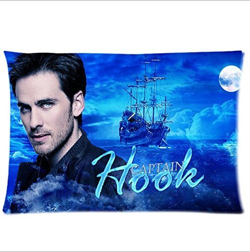 Standard Captain Hook (Custom Once Upon A Time Captain Hook Pattern 23 Pillowcase Cushion Cover Design Standard Size 20X30 Two Sides)
