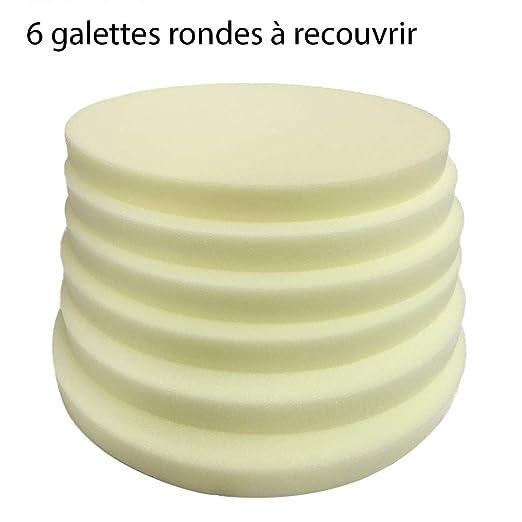 Tapizserie.FR 6 - Cojín Redondo de Espuma para Cubrir - 40 x ...