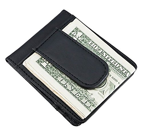 Black Wallet Visol Leather with Free Carlo Engraving Slim Personalized vPESq4