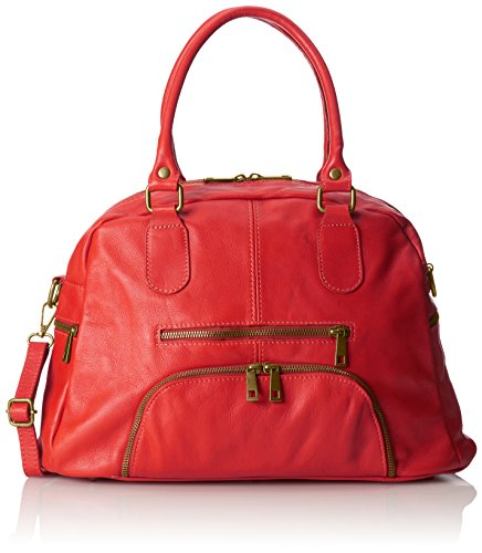 Grande Style in Rosso 47x29x21cm Made Italy Femme Sac en 100 véritable Rouge cuir CTM Satchel qEPtRngW