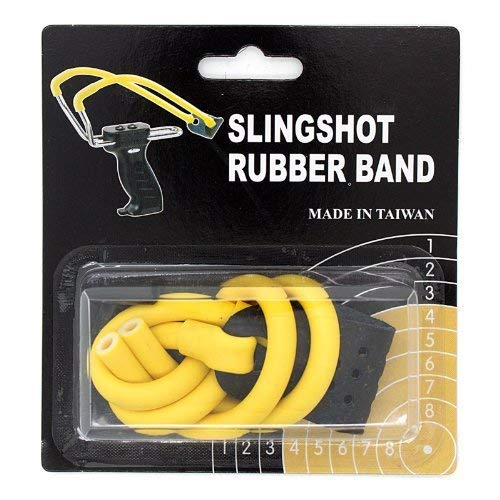 Slingshot Rubber - SAS Wizard Slingshot Replacement Rubber Power Bands (Magnum with Leather Pouch) (Yellow)