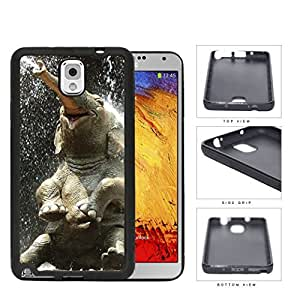 Cute Baby Elephant Water Shower Rubber Silicone TPU Cell Phone Case Samsung Galaxy Note 3 III N9000 N9002 N9005
