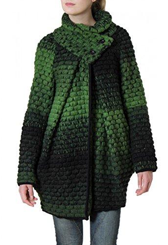 CASPAR MTL007 Manteau en laine pour femme - gilet pais pour l'hiver - plusieurs coloris Vert