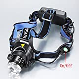 FidgetGear 2000LM CREE XM-L T6 LED Zoomable Headlamp Headlight Lamp Light + Battery Charger