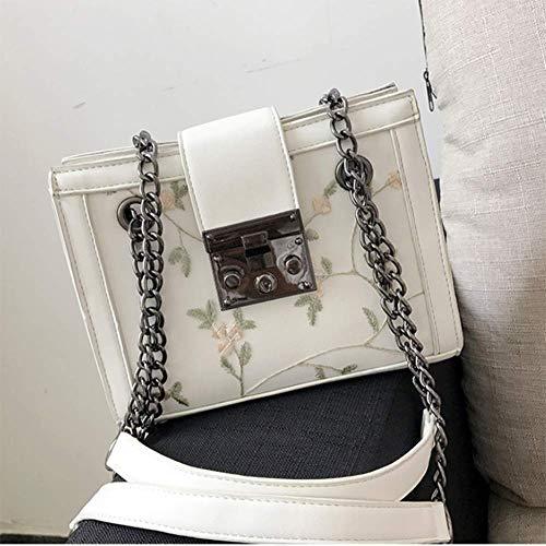 20 Lady Verde 16 del Bandolera Bolsos YT Rojo PU Blanco Lado Hombro C cordón Encaje Opcional Y Bag 7 cm 70Oqw