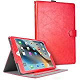 iPad Mini Case, iPad Mini 2 Case, iPad Mini 3 Case Cover, Cambond Slim Fit Auto Sleep / Wake Smart Stand Flip Case Cover with Card Slots and Stylus Holder, Protective Premium PU Leather (Red)