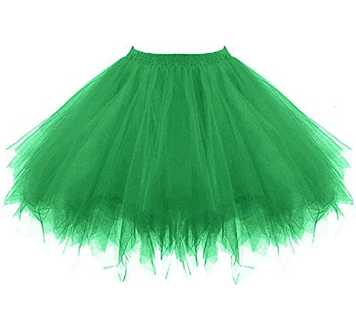 Dressever Vintage 1950s Short Tulle Petticoat Ballet Bubble Tutu Grass Green XXLarge/XXX-Large -
